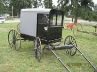 #14- Horse drawn Amish Enclosed  Buggy