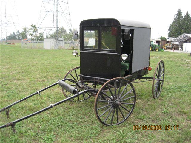 Amish Wagon Parts : Horse drawn amish enclosed buggy minneapolis moline