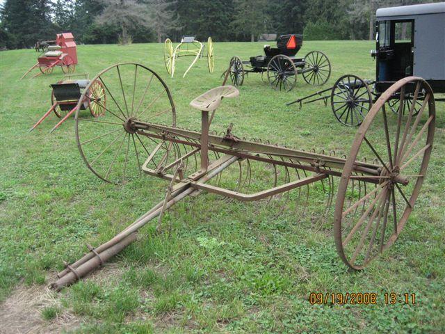 Antique Hay Rake Parts : Horse drawn hay rake minneapolis moline