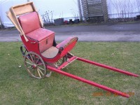 #76- 1920′s  RICKSHAW – WOODEN WHEELS